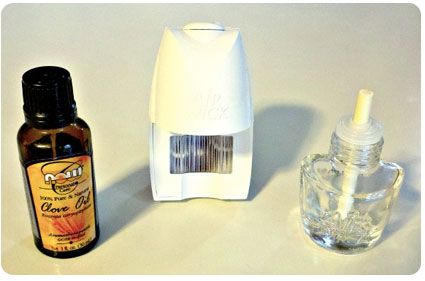 DIY Plug-in- make your own by refilling an empty plug in bulb with about 20 drops of essential oil, topped with water.  Get inexpensive essential oils for about $4 for 1oz. bottle and it makes it about $0.33 per refill.