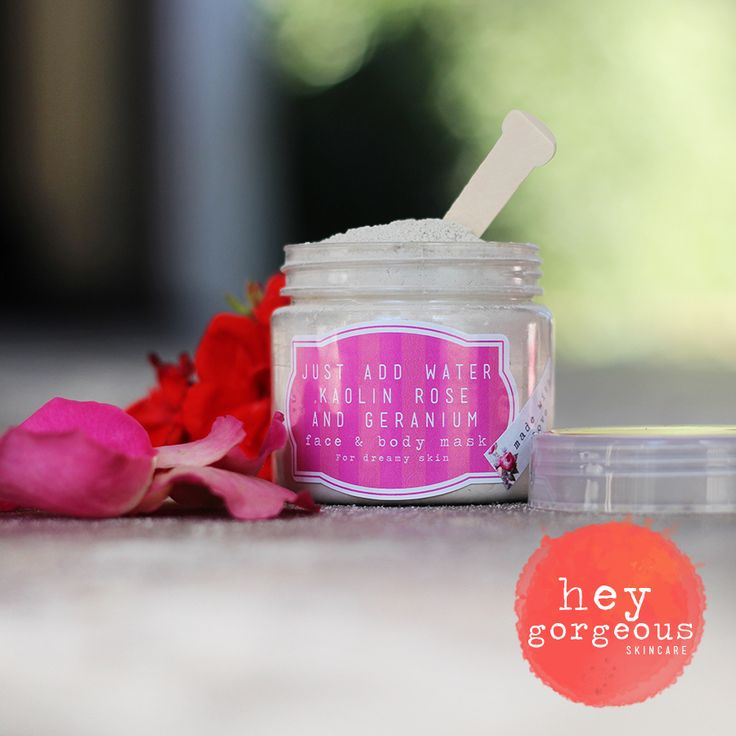 Just Add Water, Kaolin, Rose & Geranium Face & Body Mask - It almost relaxes you just thinking about it