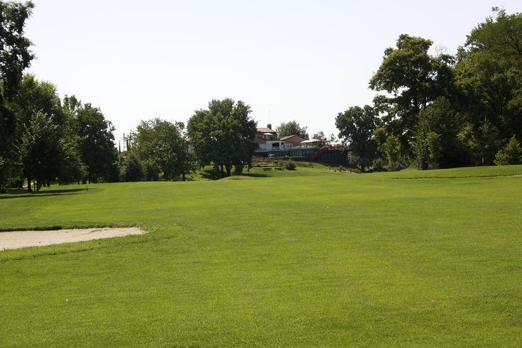 hole 18 at Udine Golf Club - Fagagna, Italy