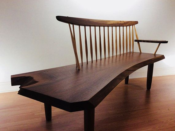 George Nakashima Style Conoid Bench
