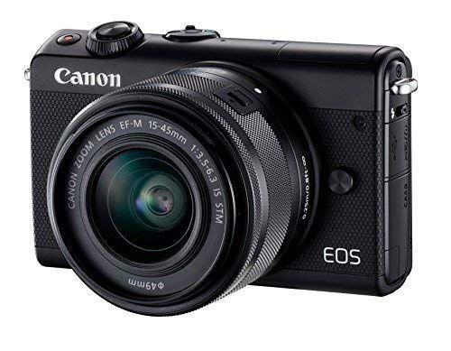 Canon Eos M100 Systemkamera 242mp 75 Cm 3 Zoll Display Wlan Nfc Bluethooth Full Hd Kit Mit Ef M 15 45 Mm F Canon Kamera Systemkamera Dslr Kameras