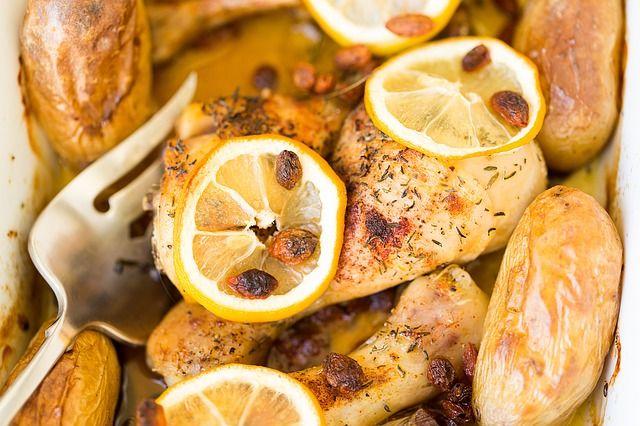 Citromos sült csirkecomb recept