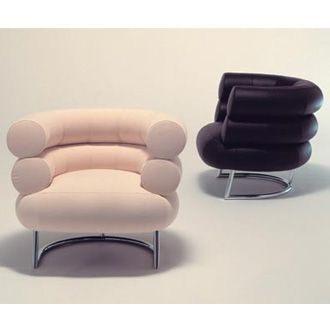 Bibendum chair by Eileen Gray (named for the character created by Michelin to sell tires)