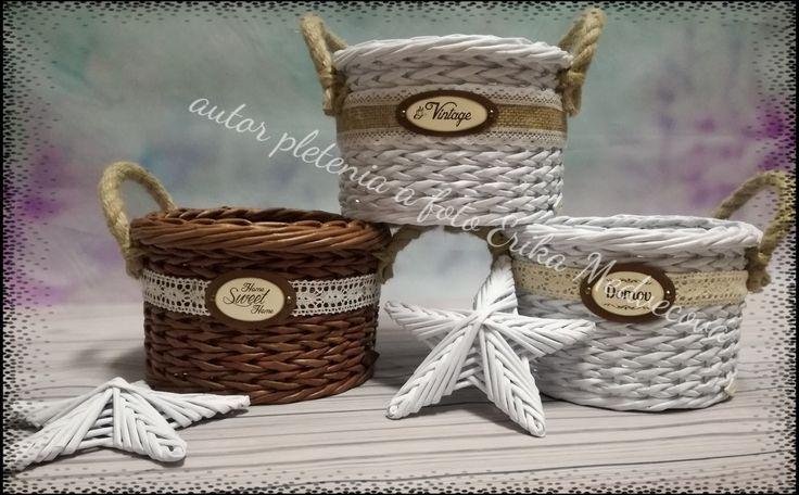 Košíky z papiere