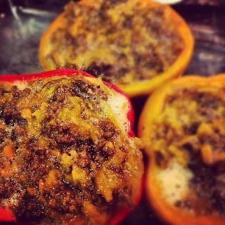 Sooo Paleo: Sweet Potato & Beef Stuffed Peppers #recipes #healthy