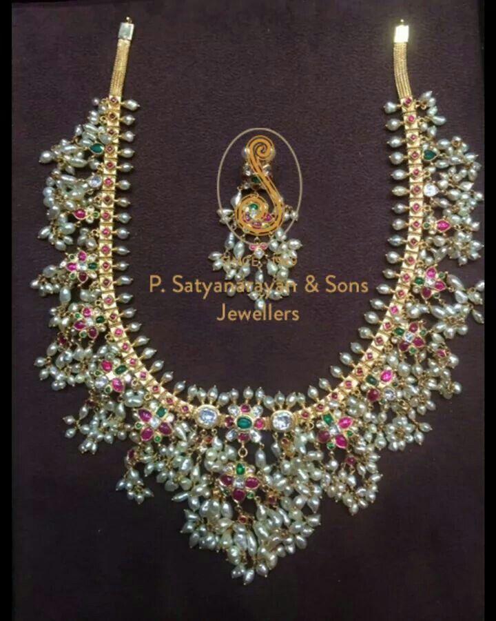 Gorgeous gutta pusalu necklace for Telugu wedding