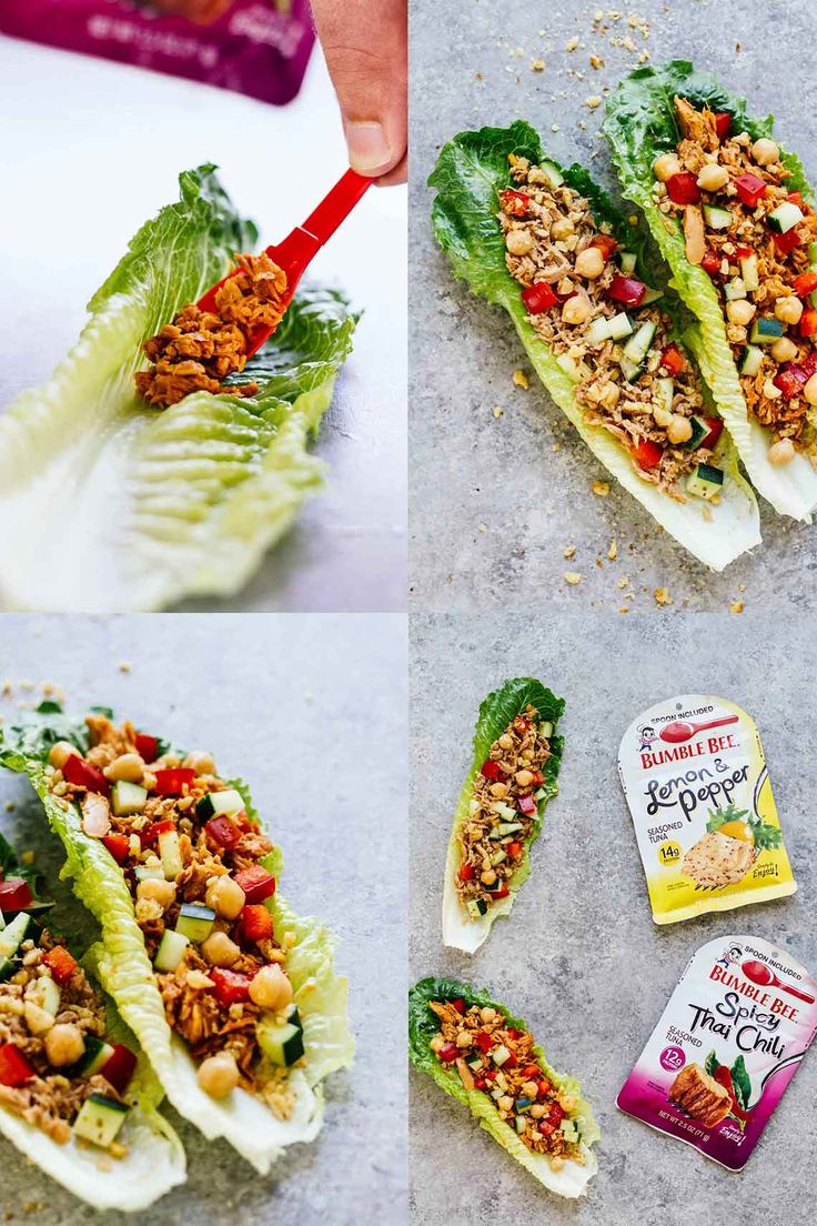 On-The-Go Tuna Lettuce Wraps! So easy to make, convenient, perfect for taking to work, and DELICIOUS! This post is sponsored by Bumble Bee®️ (ad).