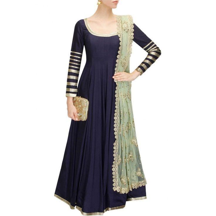 A147 Fabay New Designer Embroidered Model Navy Blue Salwar Suit SKT08