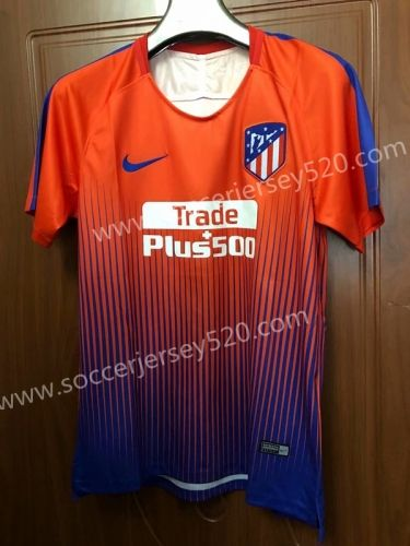2ab3e38f190 2018-19 Atletico Madrid Orange Thailand Soccer Training Jersey AAA ...