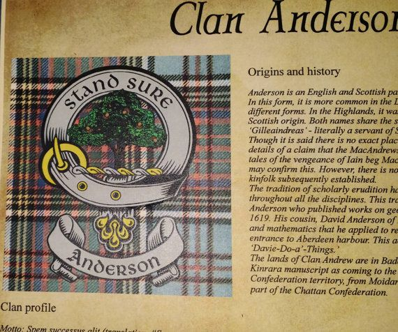 Personalized Surname Scottish Clan Tartan And By CelticNations