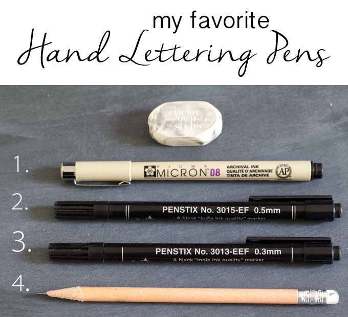 The best pens for hand lettering featured on In My Own Style