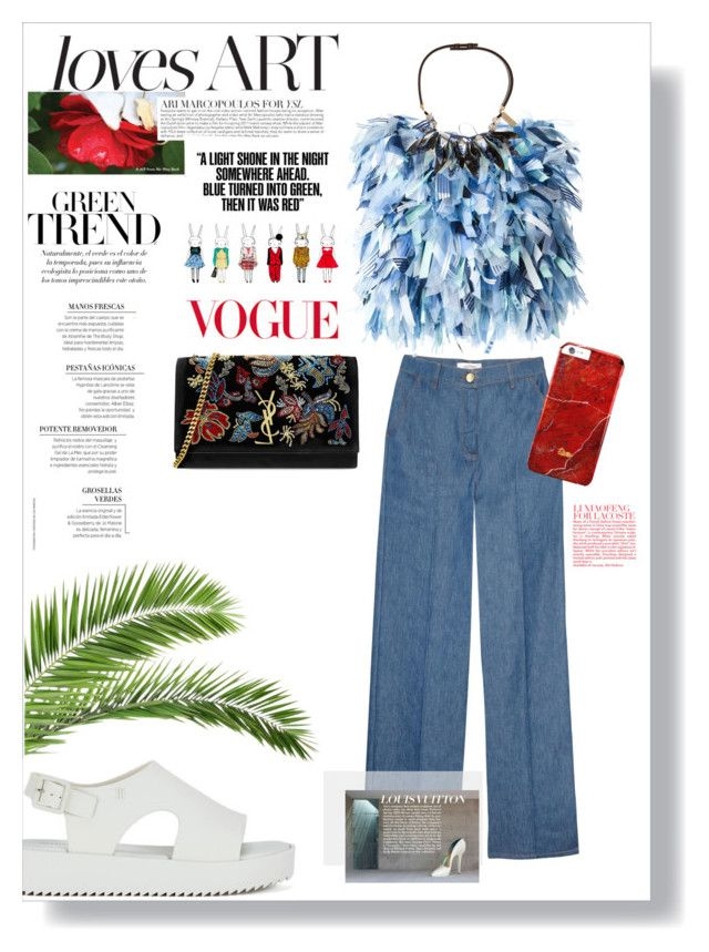 #unique by nka12 on Polyvore featuring polyvore, fashion, style, Daizy Shely, Valentino, Melissa, Yves Saint Laurent, Weekend Max Mara and clothing
