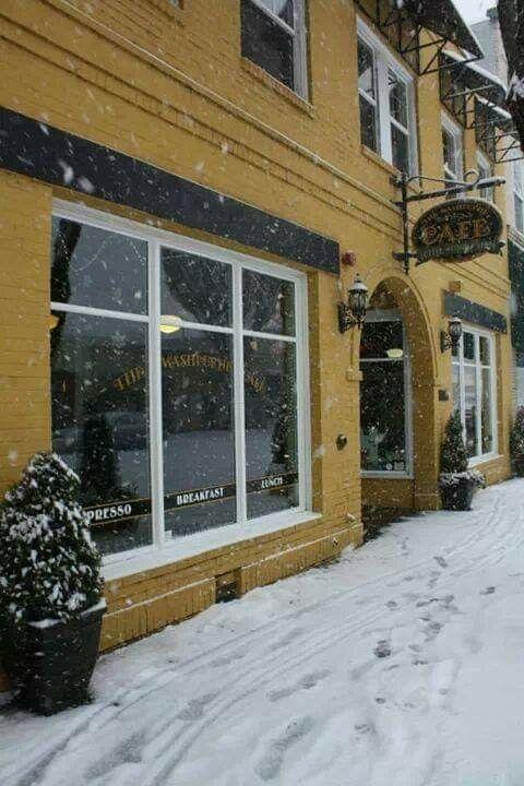 Washburne Cafe Downtown Springfield Modern Outdoor Windows