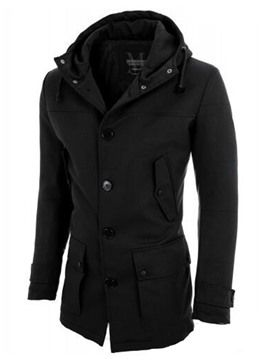 Ericdress Hood Pocket Vogue Alkalmi Slim Férfi kabát