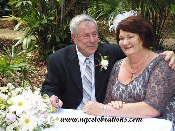 Congratulations to Linda and Clive, from New Zealand, married at the Cairns Botanic Gardens on 20th August 2015