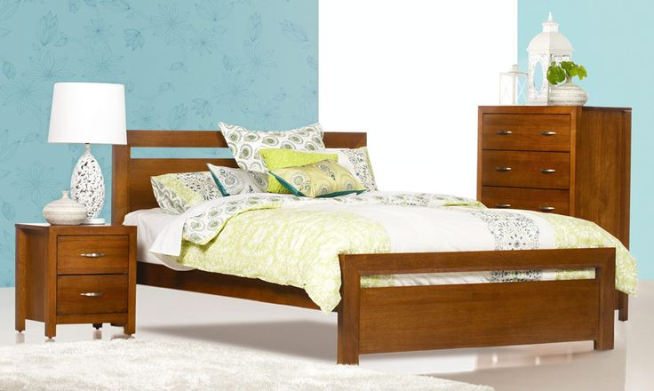 $699 Beverly - Timber Queen Size Bed | Bedshed