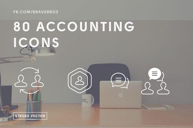 80 Account Vector Stroke Icons by BraveBros on Creative Market