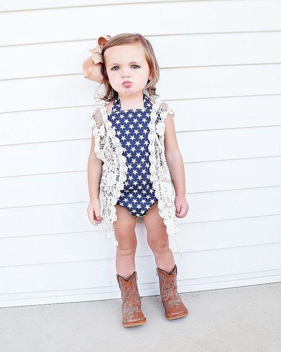Country Chic Romper Toddler Girls Romper Toddler Girls