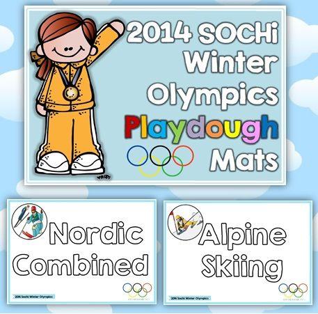 2014 Sochi Winter Olympic Playdough Mats$ http://www.teacherspayteachers.com/Product/2014-Sochi-Winter-Olympic-Playdough-Mats-1062644