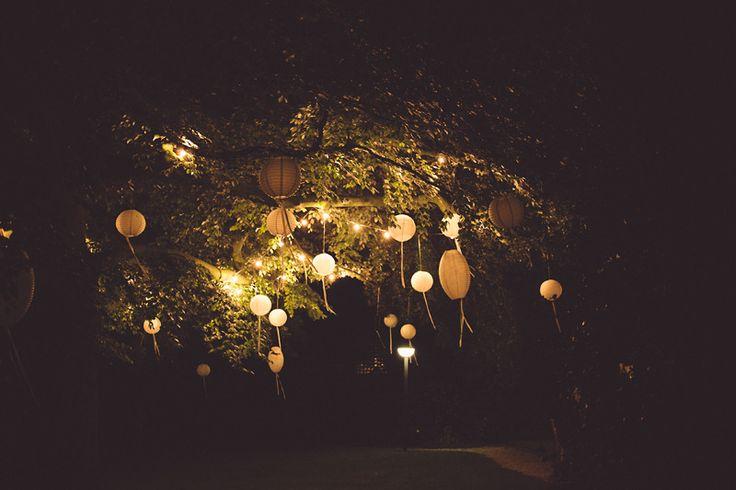 boules japonaises, lanternes papier guirlande lumineuse avec rubans ! - Mariages et babillages