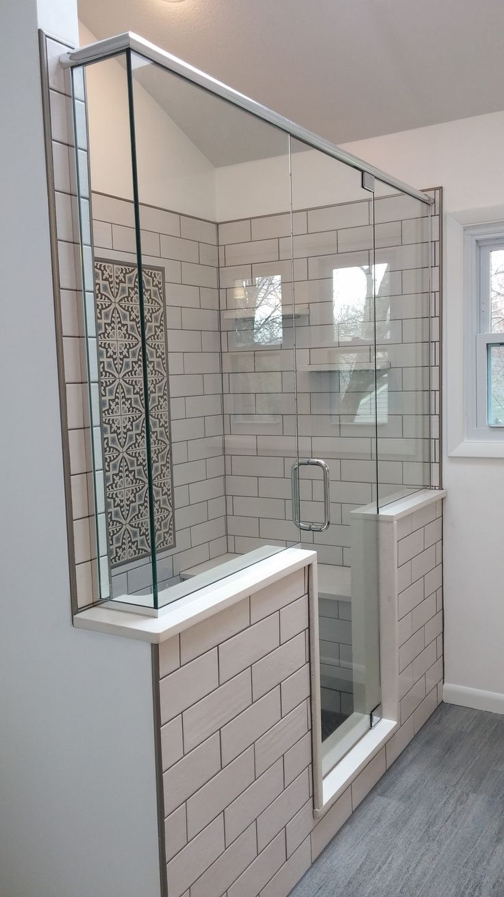 walk in shower bathroom remodel des moines sassman glass and mirror