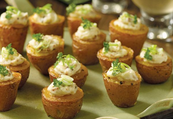 Tiny Twice-Baked Potatoes with Smoked Paprika and Bacon