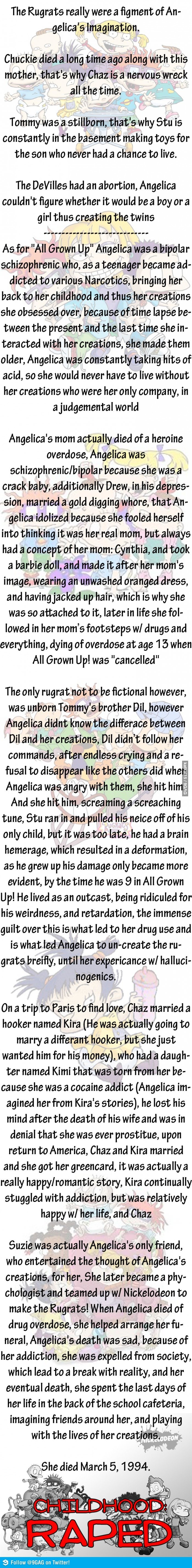 Rugrats were just a figment of Angelica's Imagination @Alex Jones Brown @shelby c Charf this is so missed up? Is this real?