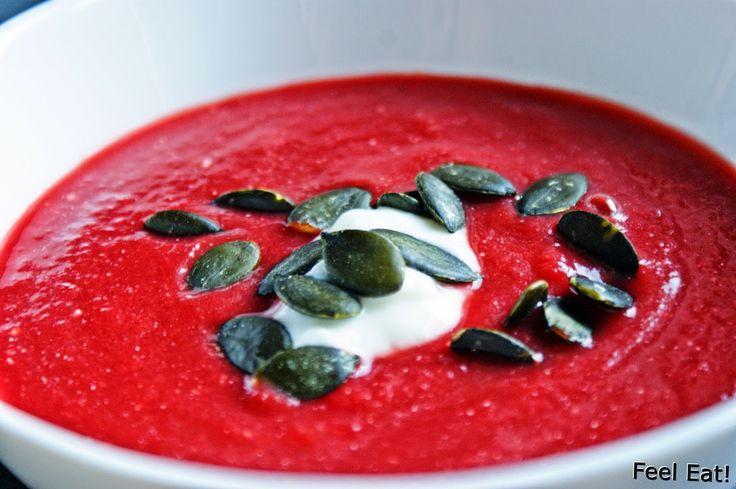 Feel Eat!: Szybka i zdrowa zupa krem z buraków