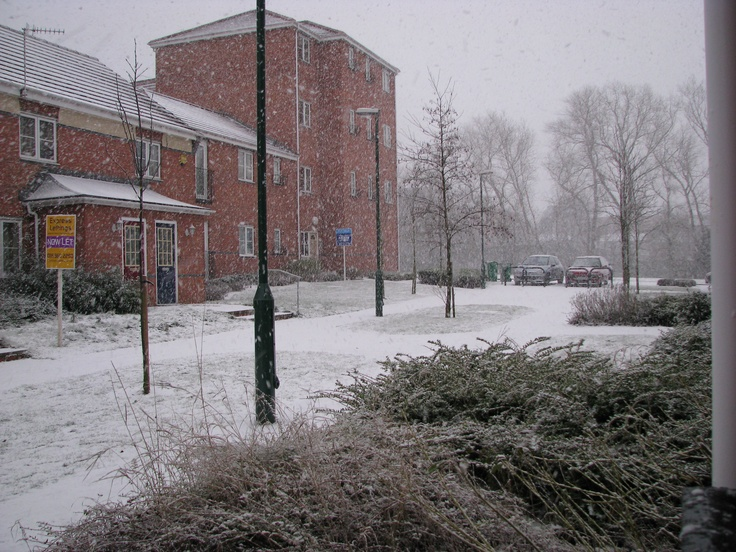 My first winter in England,  Carrington Point, Nottingham (2009)
