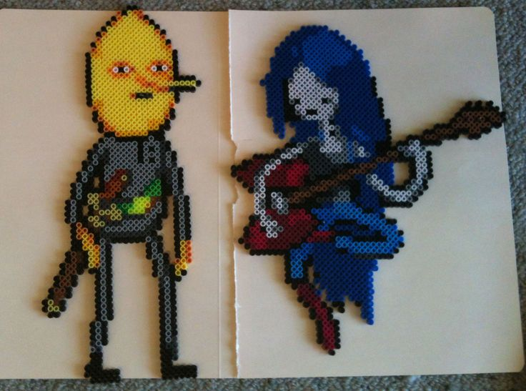 Adventure Time perler bead sprites