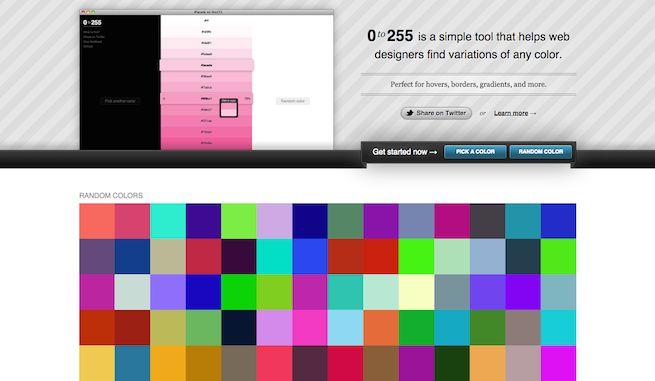 0to255 指定した色のグラデーションを確認することができます。 「この色で、もうちょっと薄いのがほしい」というような場面でとても便利