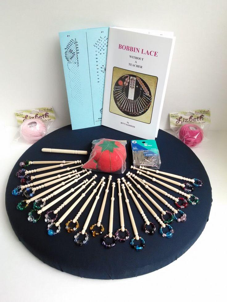 Bobbin Lace Kit with Spangled Bobbins