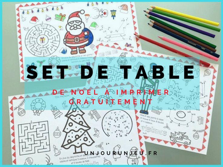 sets de table de Noël à imprimer gratuitement