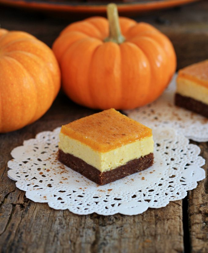 No-bake Fudgy Pumpkin Cream Squares {grain free, gluten free, refined sugar free}
