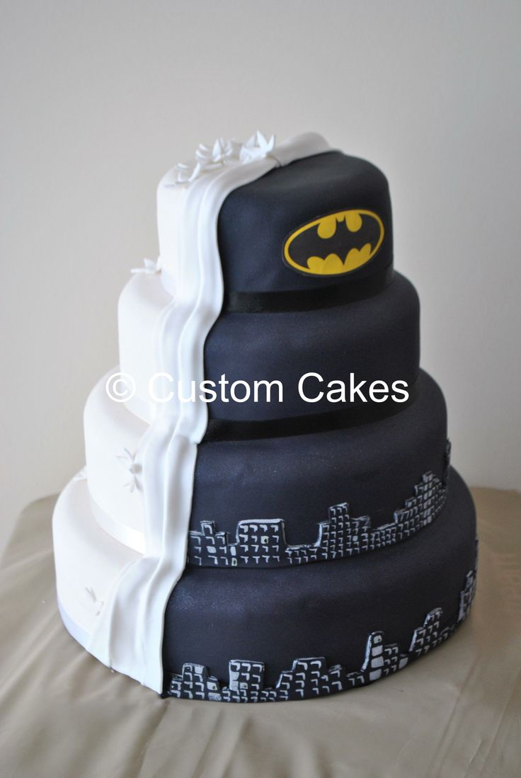 Half Batman Wedding Cake