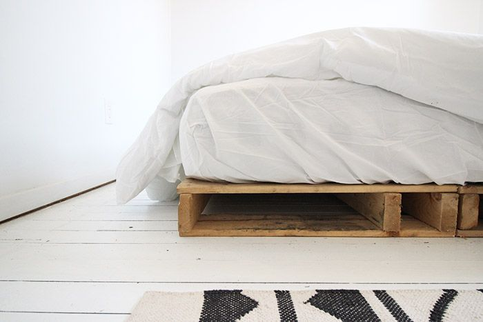 DIY: Easy Wood Pallet Bed Frame - Wonder Forest