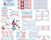Printable Nautical Baby Shower- Ready to Go Package. $9.50, via Etsy.Nautical Baby Showers