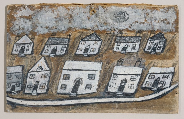 White houses - Hales Down, near St. Ives - Alfred Wallis