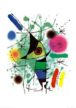This just makes me smile. Joan Miró - Le Chanteur, The Singing Fish