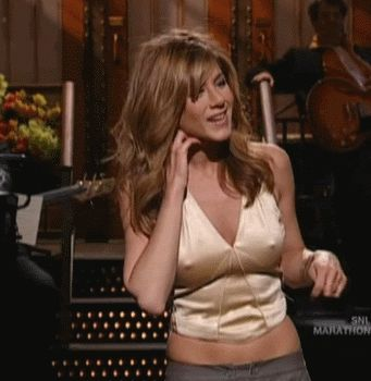Tits! jennifer aniston orgasm her