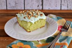 Watergate Cake – Family Favorite ~ http://www.southernplate.com