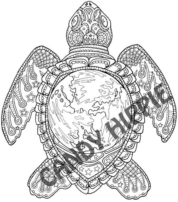 adult coloring pages turtle - celestial pages for adults coloring pages