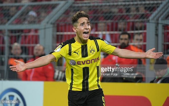 Emre Mor of Borussia Dortmund during the game between Borussia Dortmund and dem 1 FC Union Berlin on october 26 2016 in Dortmund Germany