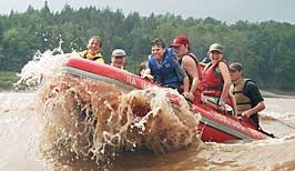 Go tidal bore rafting in the Bay of Fundy  THIS IS THE MOST FUN EVER.   I NEED TO GO BACK AND DO THIS WHEN IT'S AT THE MOST INTENSE