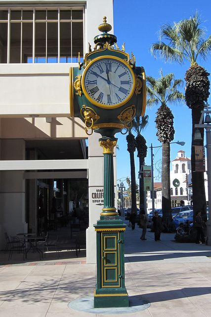 This is the Seth Thomas four-dial post street clock ...