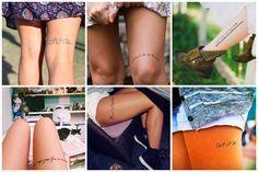 Selecionamos 107 fotos de frases para tatuagem em outros idiomas, religiosas, trechos musicais, românticas, veja frases perfeitas!