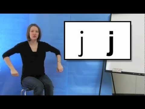 Excellent, straightforward phonogram video includes hand motions.