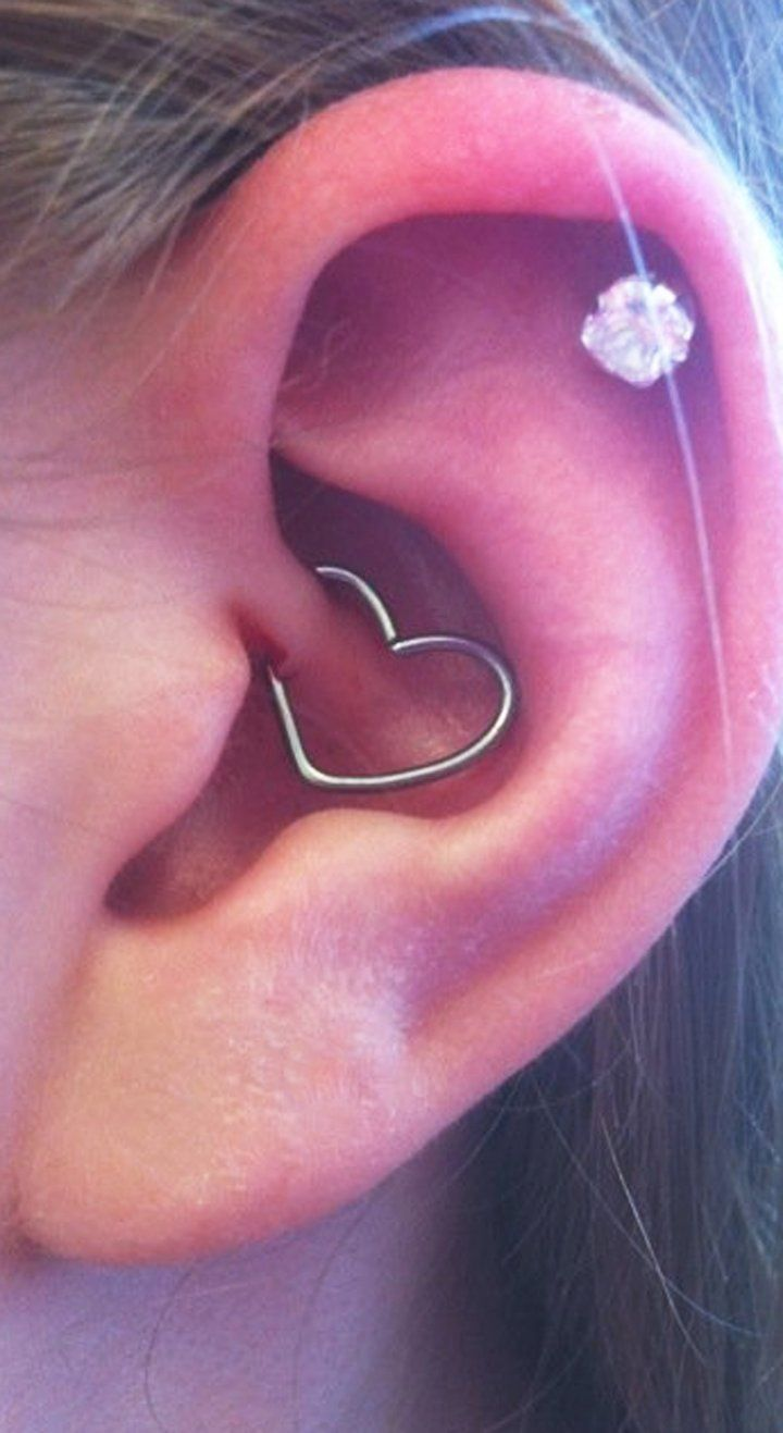 80b631b5d7b92 Wired Heart Daith Earring, Rook Earring, Cartilage Piercing, Helix ...