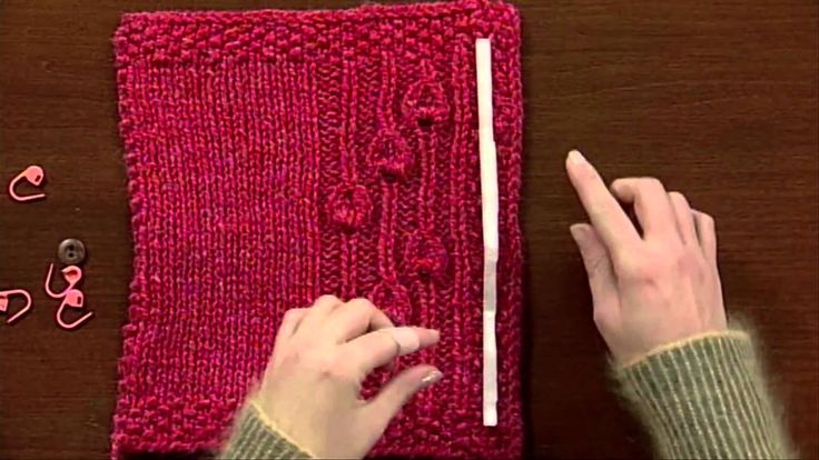 Knitting Tips By Judy : Eunny s quick tip for buttonhole placement from knitting