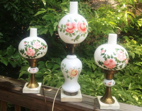 #Vintage Antique Gone With The Wind Parlor Lamps by @MountainCreekVintage on #Etsy, $350.00